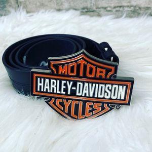 Harley Davidson Leather Big Buckle Belt Size 34